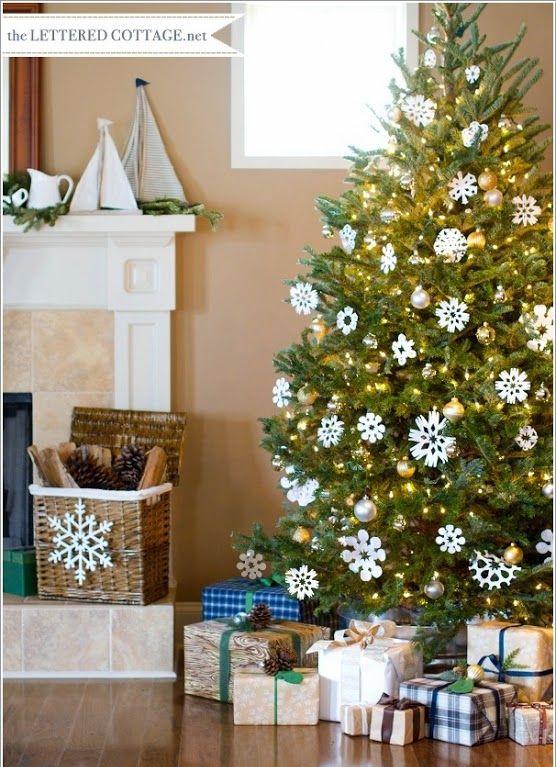 Como hacer unos hermosos e impresionantes copos de nieve - Arbol navidad nieve ...