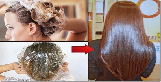 La máscara del aceite de bardana para los cabellos para la reconstitución
